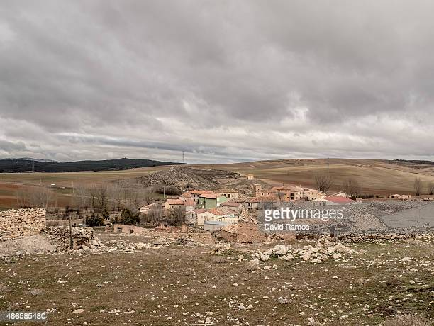 A general view of the village of Tordelpalo on February 26 2015 near Molina de Aragon Spain The process of deindustrialization and depopulation that...