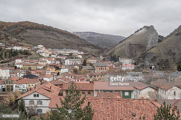 A general view of the village on November 26 2016 in Santa Lucia Spain Hundreds of houses and public services buldings such as a school and its...