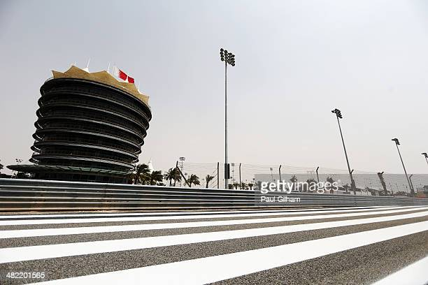 General view of the VIP Tower during previews for the Bahrain Formula One Grand Prix at the Bahrain International Circuit on April 3 2014 in Sakhir...