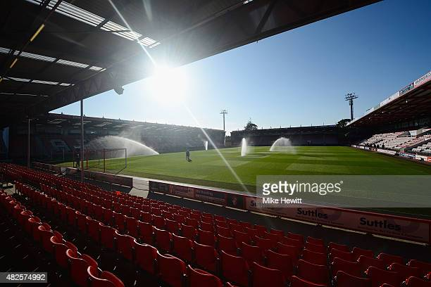 A general view of the Vitality Stadium ahead of a Pre Season Friendly between AFC Bournemouth and Cardiff City at Vitality Stadium on July 31 2015 in...