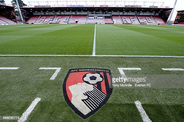 A general view of the Vitality Stadium before the Barclays Premier League match between AFC Bournemouth and Everton at Vitality Stadium on November...