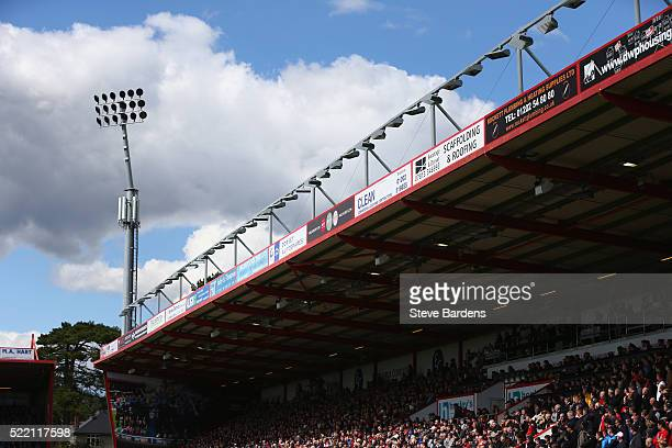 General view of the Vitality Stadium during the Barclays Premier League match between AFC Bournemouth and Liverpool at the Vitality Stadium on April...