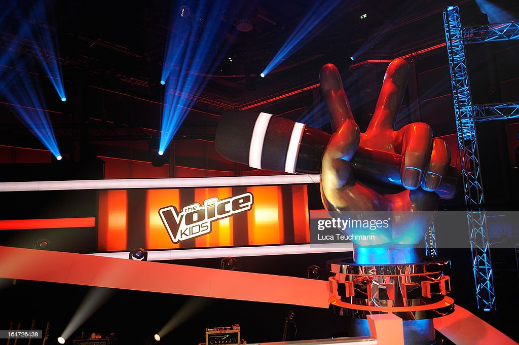 A general view of 'The Voice Kids' Photocall at the Adlershof Studio on March 27, 2013 in Berlin, Germany.