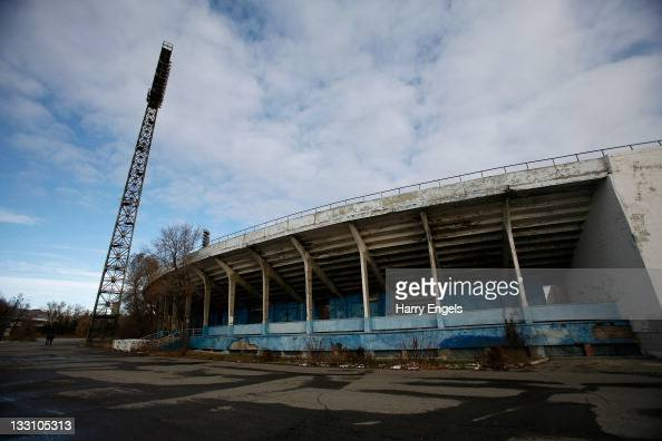 A general view of the Volgograd football stadium on November 16 2011 in Volgograd Russia The stadium is due to be overhauled before the World Cup but...