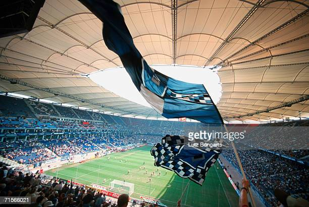 General view of the Volksparkstadion during the bundesliga match between TSV 1860 Munich and Hamburger SV on August 12 2000 in Hamburg Germany