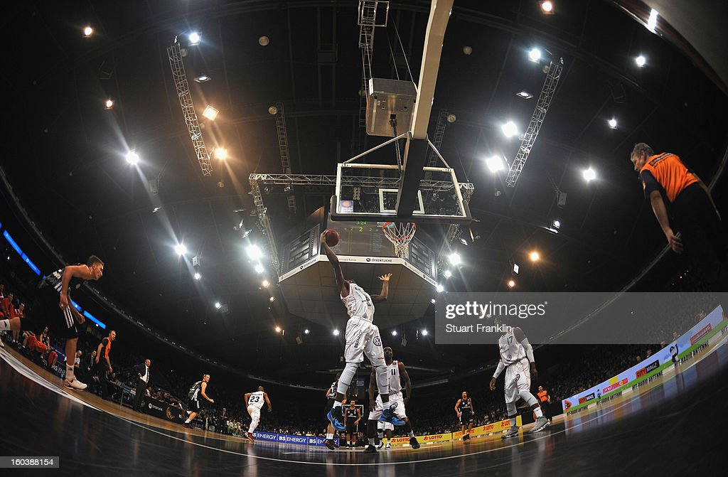 A general view of the Volkswagan hall during the BBL match between New Yorker Phantoms Braunschweig and FC Bayern Muenchen at the Volkwagen hall on January 30, 2013 in Braunschweig, Germany.