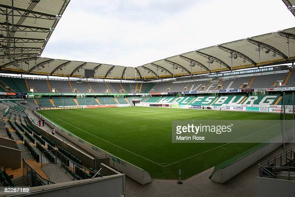 A general view of the Volkswagen Arena is seen on August 13 2008 in Wolfsburg Germany Officials from DFB and FIFA are touring Germany to inspect...