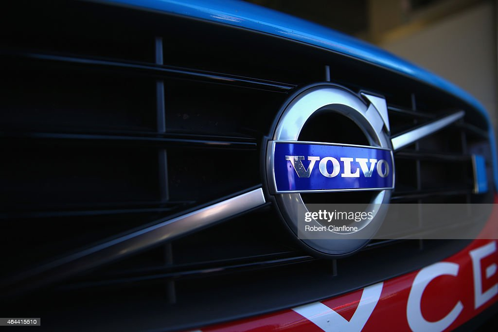 A general view of the Volvo logo ahead of the V8 Supercars Clipsal 500 at Adelaide Street Circuit on February 26 2015 in Adelaide Australia