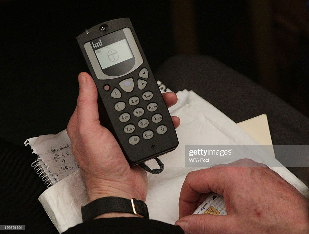 A general view of the voting handset which will be used during a meeting of the General Synod of the Church of England on November 20, 2012 in London, England. The Church of England's governing body, known as the General Synod, will later today vote on whether to allow women to become bishops.