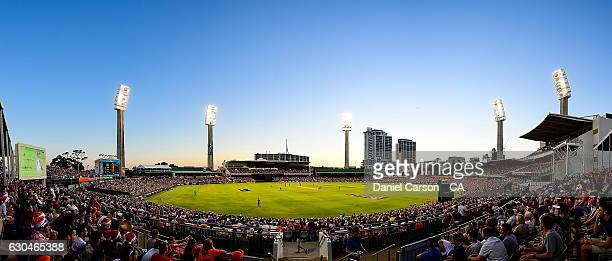 General view of the WACA ground during the Big Bash League between the Perth Scorchers and Adelaide Strikers at WACA on December 23 2016 in Perth...