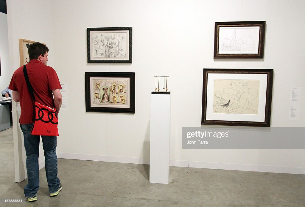 A general view of the Waddington Custot Galleries at Art Basel Miami Beach 2012 at the Miami Beach Convention Center on December 6, 2012 in Miami Beach, Florida.