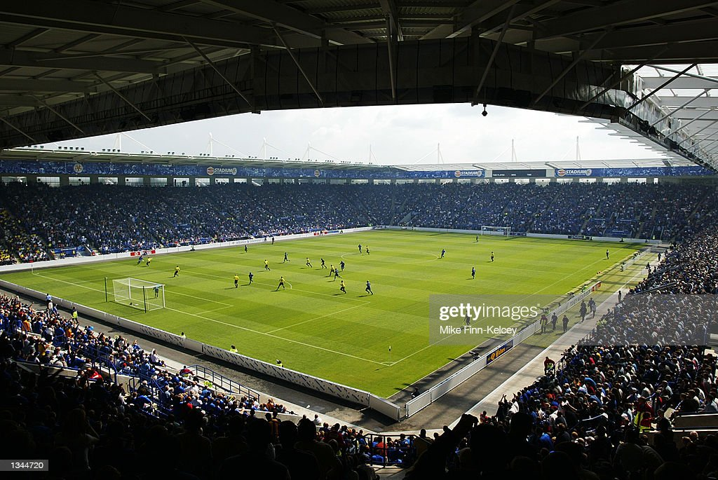 General view of the Walkers Stadium during the Nationwide League Division One match between Leicester City and Watford in Leicester, England on August 10, 2002. Leicester won 2-0.