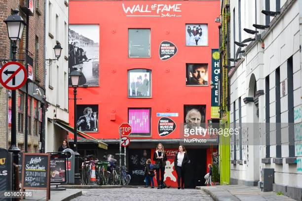 A general view of the Wall Of Fame in Dublin's Tample Bar On Friday March 10 in Dublin Ireland