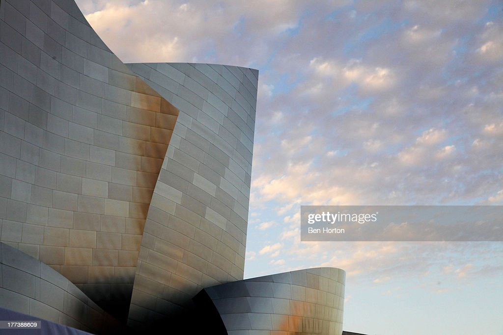 A general view of the Walt Disney Concert Hall during the Festa Italiana with Giada de Laurentiis opening night celebration of the third annual Los Angeles Food & Wine Festival on August 22, 2013 in Los Angeles, California.