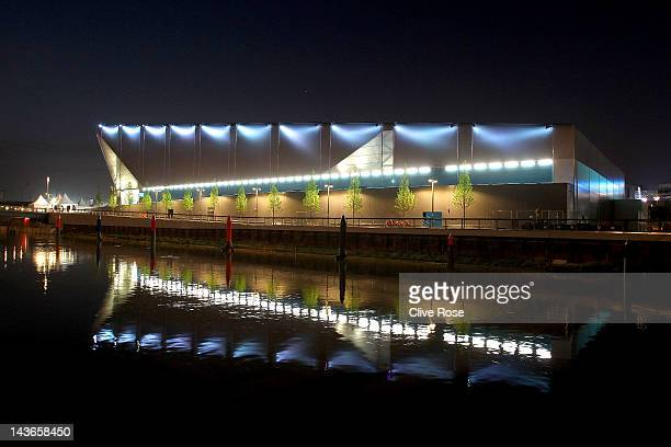 A general view of the Water Polo Arena ahead of the Visa Water Polo International test event for the London 2012 Olympic Games at the Olympic Park...