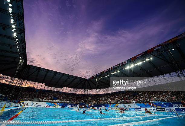 General view of the Water Polo Arena during the Men's Water Polo Preliminary Round Group B match between Russia and Italy on day five of the 16th...
