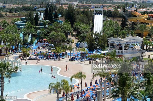 General view of the Waterworld in Ayia Napa on May 25 2013 in Ayia Napya Cyprus Waterworld themed waterpark is Europe's largest themed waterparkÊ