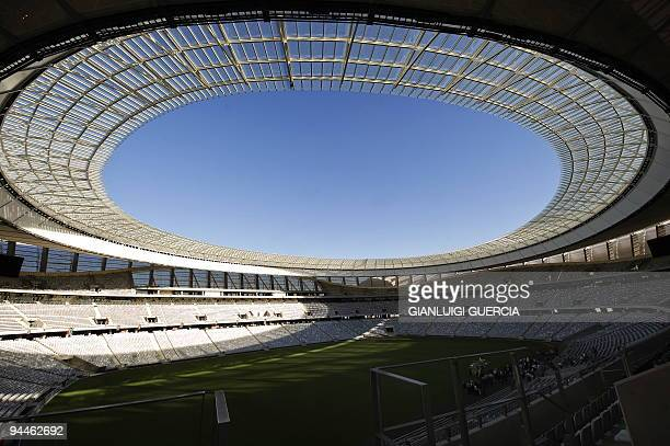 A general view of the WC2010 Greenpoint pitch is pictured on December 14 2009 during the official stadium hand over ceremony in Cape Town South...
