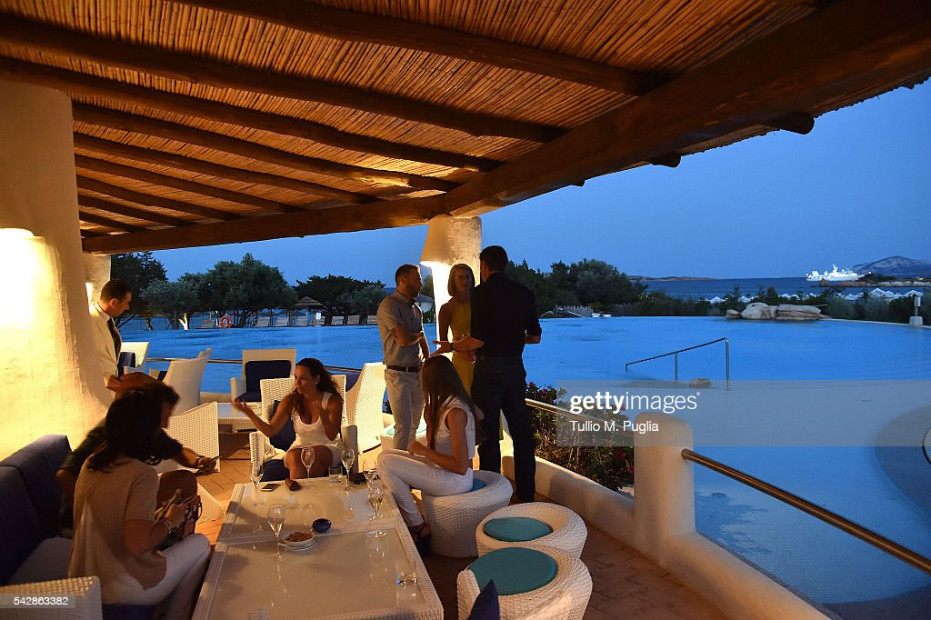 A general view of the Welcome Dinner prior to The Costa Smeralda Invitational golf tournament at Pevero Golf Club - Costa Smeralda on June 24, 2016 in Olbia, Italy.