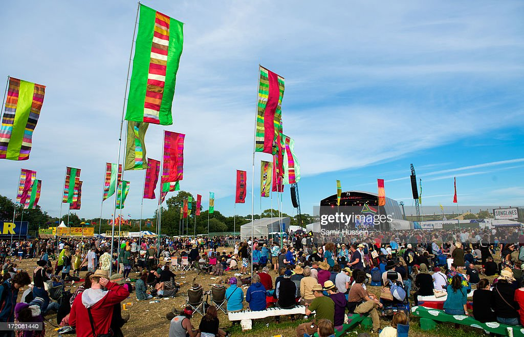 A general view of the West Holts Stage at the Glastonbury Festival of Contemporary Performing Arts at Worthy Farm, Pilton on June 30, 2013 in Glastonbury, England.