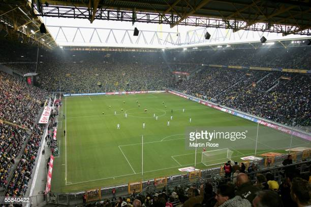 General view of the Westfalen Stadium during the Bundesliga match between Borussia Dortmund and VfB Stuttgart at the Westfalen Stadium on October 2...