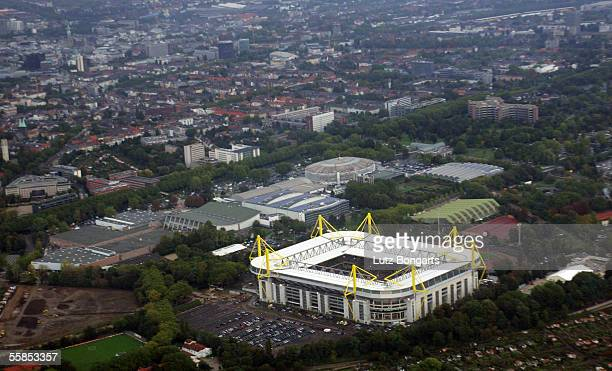 A general view of the Westfalen Stadium is seen on October 2 2005 in Dortmund Germany The Westfalen Stadium is one of the host Stadiums that will be...