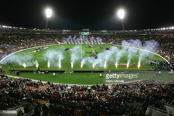 A general view of the Westpac Stadium during the Second Rugby Test between New Zealand and France at the Westpac Stadium June 9 2007 in Wellington...