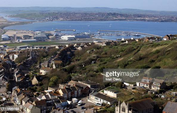 A general view of the Weymouth Portland National Sailing Academy and surrounding area is seen from Portland on April 8 2011 in Weymouth England...