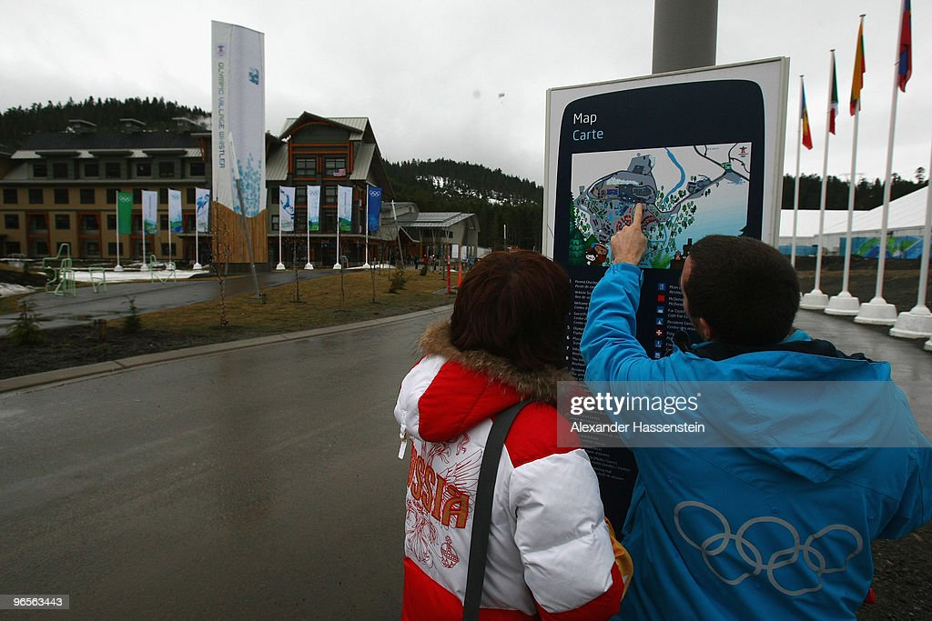 A general view of the Whistler Olympic village during the media tour ahead of the Vancouver 2010 Winter Olympics on February 10 2010 in Whistler...