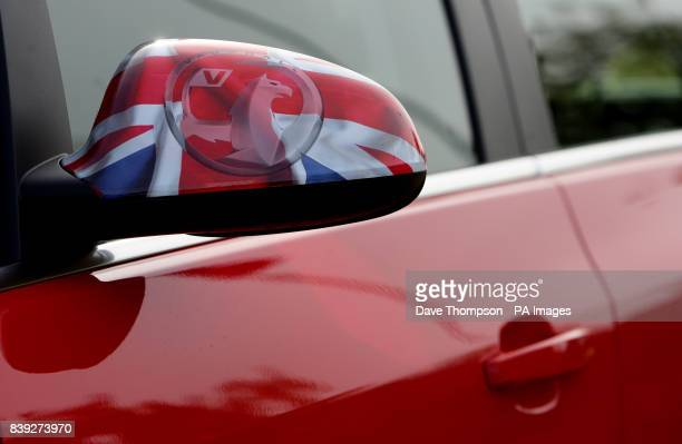 A general view of the wing mirror of a car at Vauxhall Motors in Ellesmere Port Merseyside