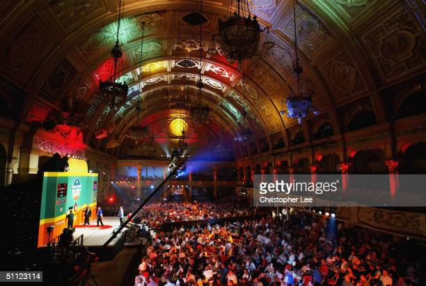 General view of the Winter Gardens arena is seenduring the Stan James World Matchplay Darts Championship at the Winter Gardens on July 28 2004 in...