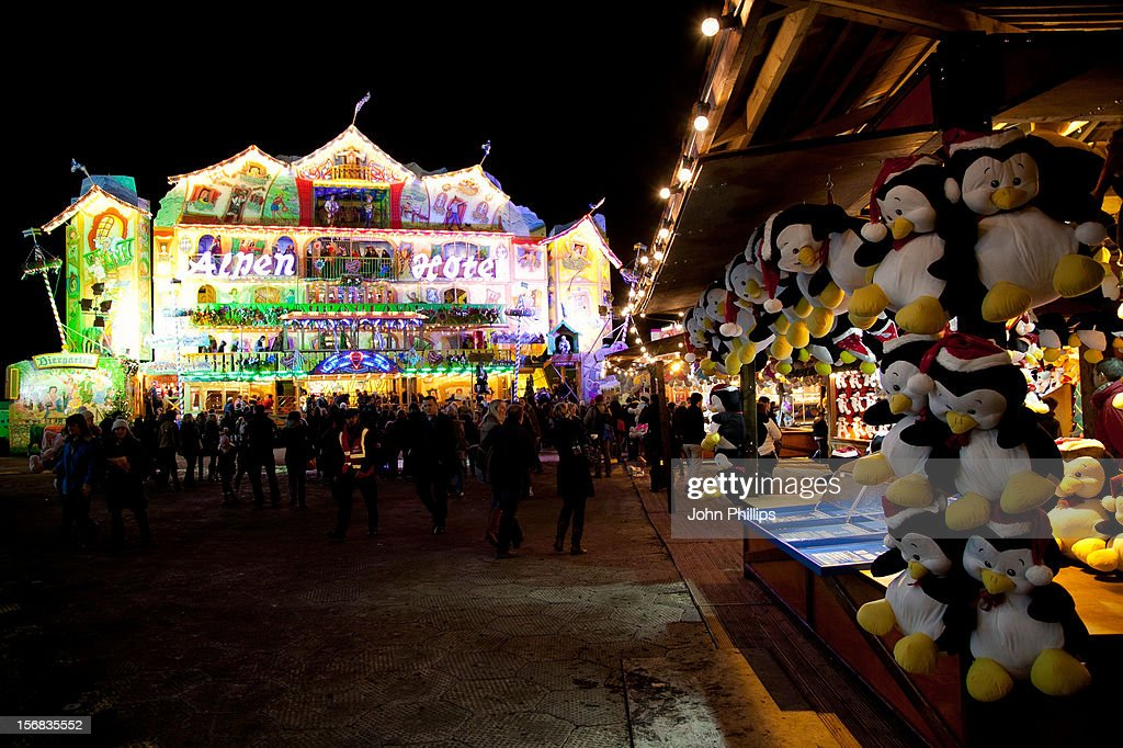 A general view of the Winter Wonderland launch party at Hyde Park on November 22, 2012 in London, England.