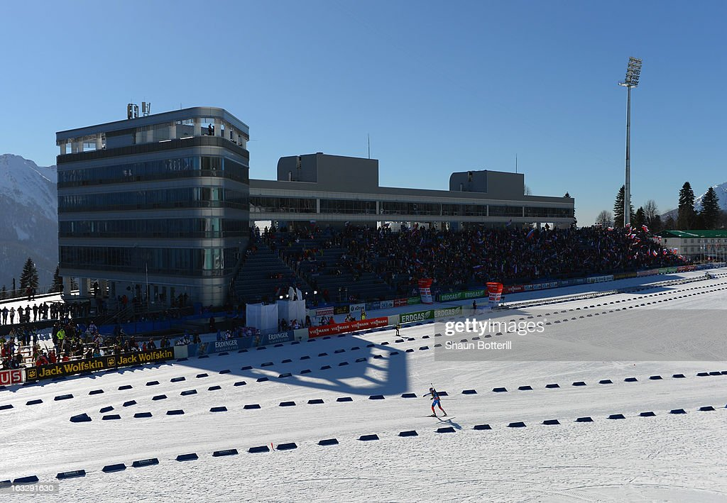 A general view of the Women's 15km Individual Event during the E. ON IBU Biathlon World Cup at the 'Laura' Biathlon & Ski Complex on March 7, 2013 in Sochi, Russia.