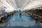 A general view of the women's 1650 yard freestyle finals during the USA Swimming 2014 ATT Winter National Championships at the Greensboro Aquatic...