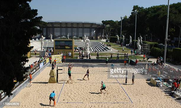 A general view of the women's main draw of FIVB Smart Grand Slam at Foro Italico on June 20 2013 in Rome Italy