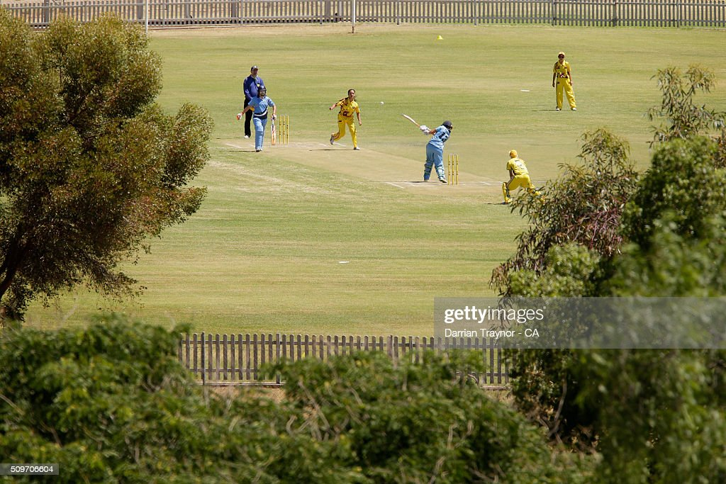 A general view of the women's match between New South Wales and Western Austrlia during day 5 of the National Indigenous Cricket Championships on February 12, 2016 in Alice Springs, Australia.
