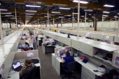 general view of the workers place at the IBM office in Hortolandia about 100km north from Sao Paulo Brazil on September 14 2012 AFP PHOTO/Yasuyoshi...