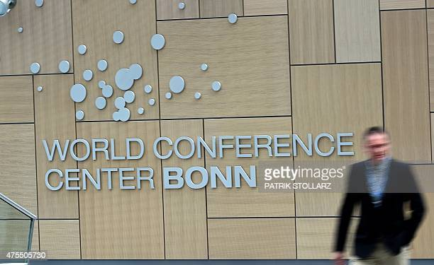 A general view of the World Conference Center Bonn is taken during the United Nations Framework Convention on Climate Change opening ceremony in Bonn...