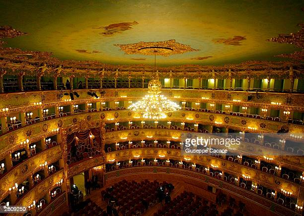 General view of the world famous theater La Fenice taken on December 13 2003 as it prepares to reopen in Venice Italy