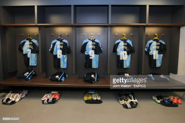 General view of the Wycombe Wanderers dressing room