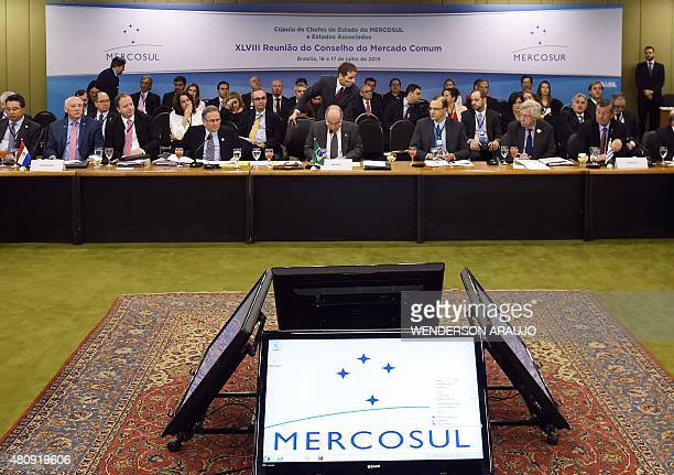 General view of the XLVIII Meeting of the MERCOSUR Common Market Council at Itamaraty Palace in Brasilia Brazil on July 16 2015 AFP PHOTO/WENDERSON...