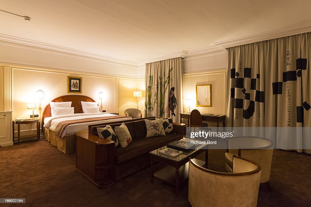 A general view of the Yi Zhou's 'Paradise Suite' at Hotel Lutetia on November 14, 2013 in Paris, France.