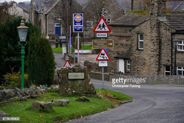 A general view of the Yorkshire village of Hawes which is trying to make itself the most selfsufficient place in Britain on November 13 2017 in Hawes...