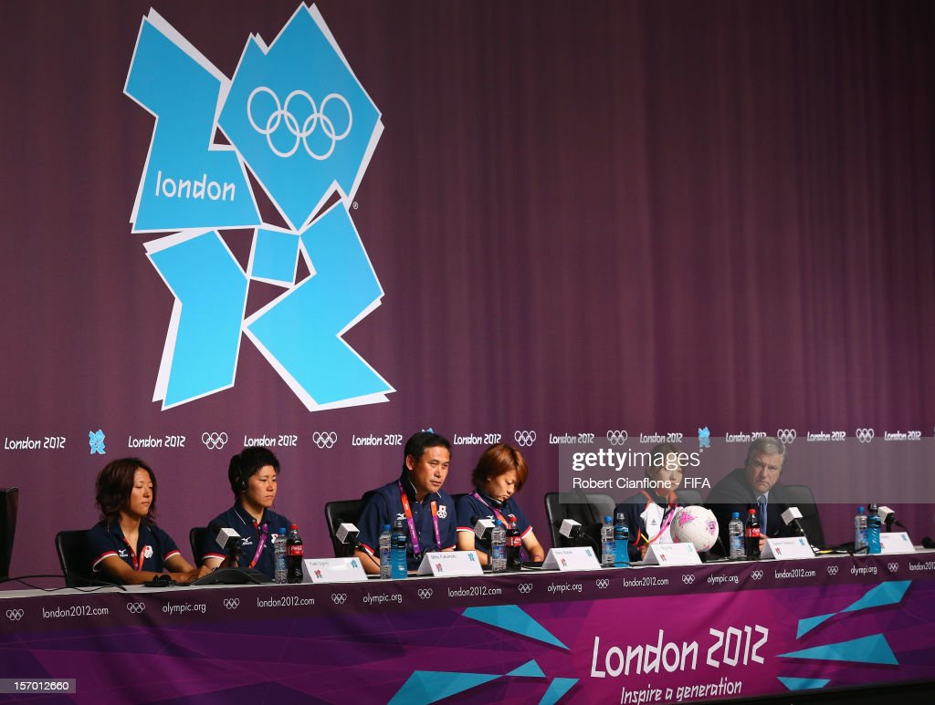 A general view of ther Hapan press conference during the Women's Football Final press conference at the Main Press Centre as part of the London 2012 Olympic Games on August 8, 2012 in Newcastle upon Tyne, England.