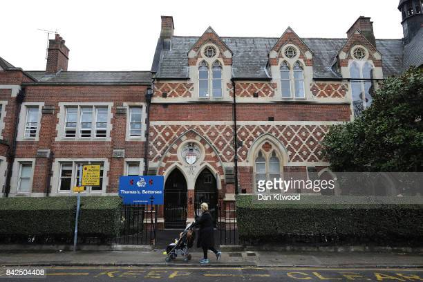 A general view of Thomas's Battersea school on September 4 2017 in Battersea England Prince George the son of the Duke and Duchess of Cambridge will...
