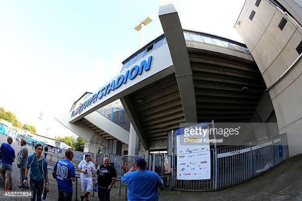 General view of thre Rewirpower Stadium during the preseason friendly match between VfL Bochum and FC Schalke 04 at Rewirpower Stadium on August 5...