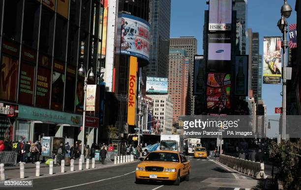 A General view of Times Square New York