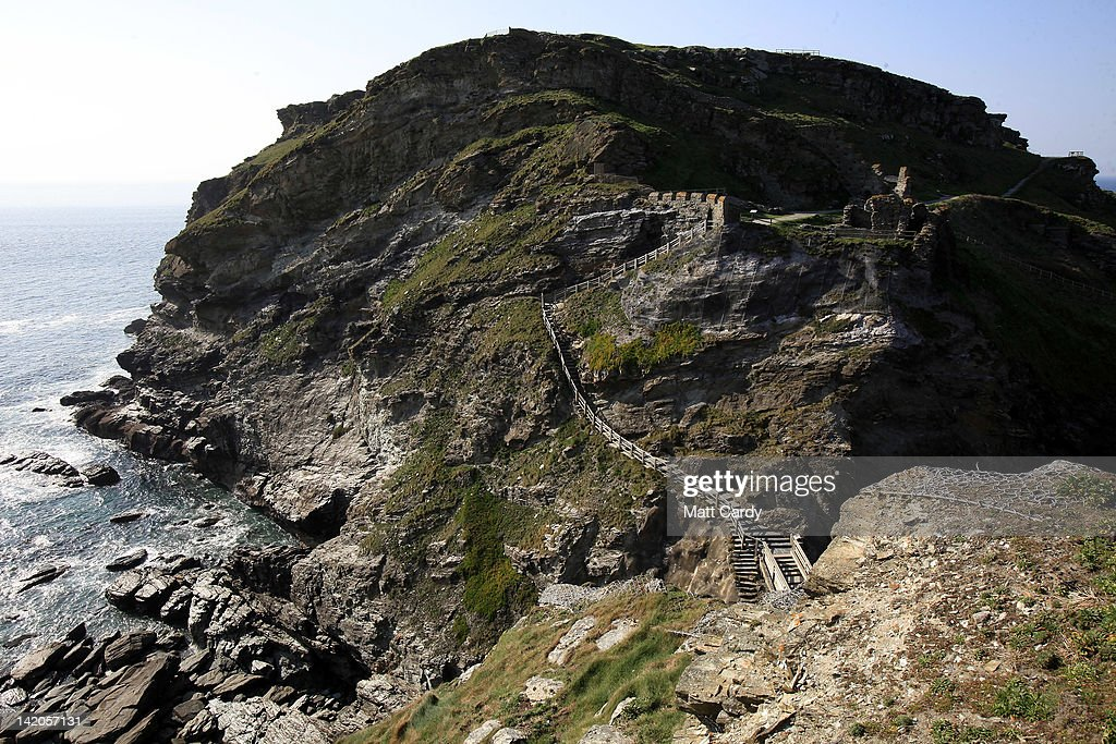 A general view of Tintagel castle is seen on March 28, 2012 in Cornwall, England. With only a few months to go until the opening ceremony of the London 2012 Olympic games, Britain's tourist industry is hoping to benefit from the influx of athletes, officials and visitors.