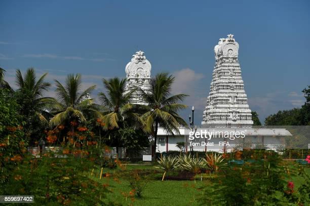 General view of Tirupati Sri Balaji Temple during the FIFA U17 World Cup India 2017 tournament on October 10 2017 in Guwahati India