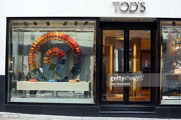 General View of Tod's on Bond Street on May 28 2014 in London England